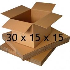 30 x 15 x 15 (Çift Oluklu Standart Koli)